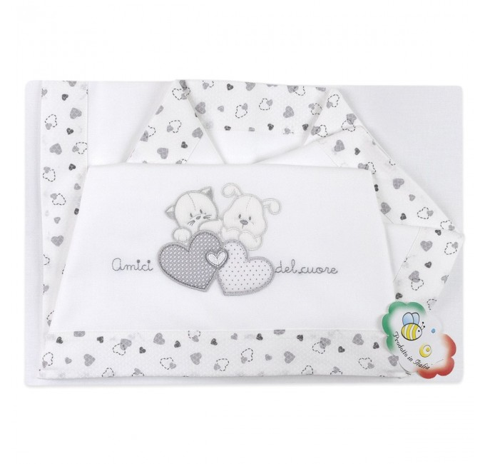 Cot bed sheet set La Fatina art. 04139GR