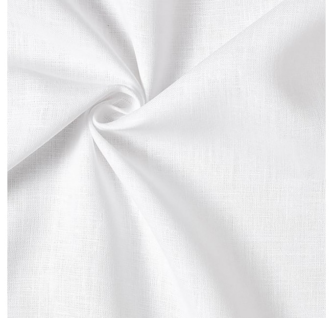 Pure cotton fabric height 300 cm - White