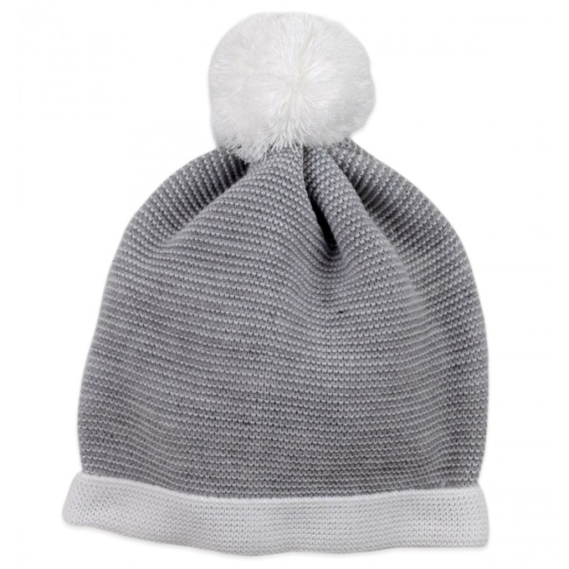 Cappellino in misto lana con pon pon