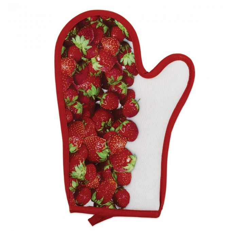 Oven mitt kitchen Vallesusa art. Strawberry