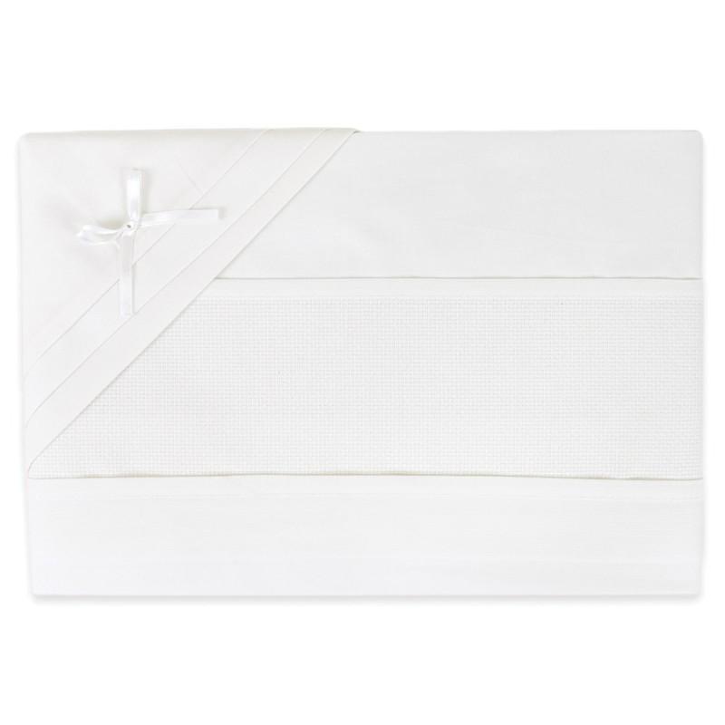 Set lenzuola per lettino tela aida ricamabile art. CI1405PQPA