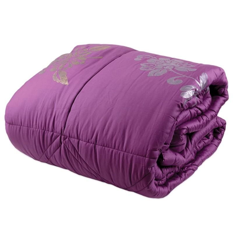 Lipari - queen size bed quilt maxi - plum