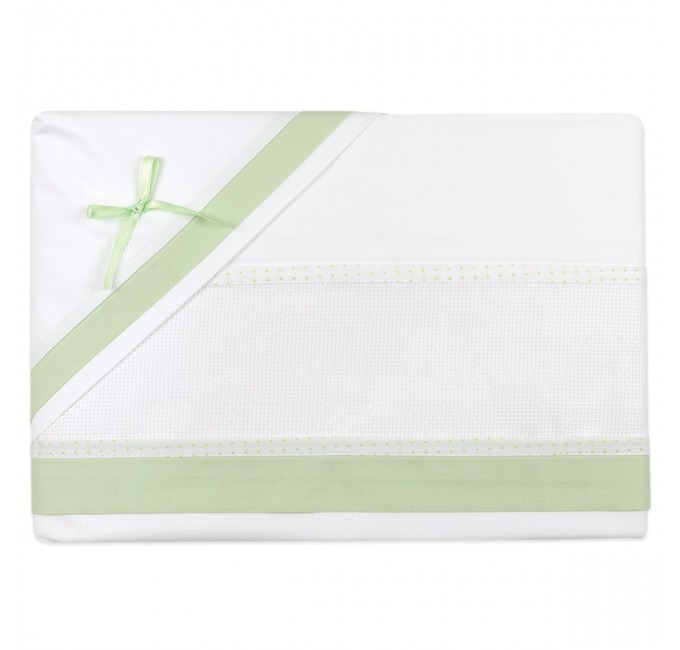 Cot bed sheet set to embroider art. CI1405PQV