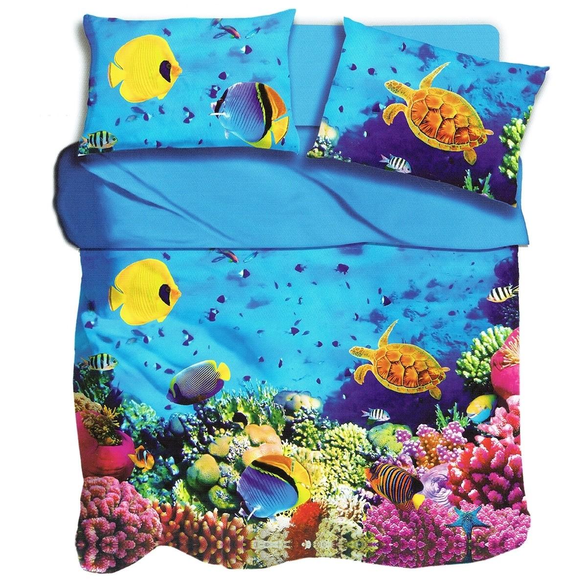 Lenzuola Matrimoniali Stampa Digitale.Aquarium Lenzuola Stampa Digitale