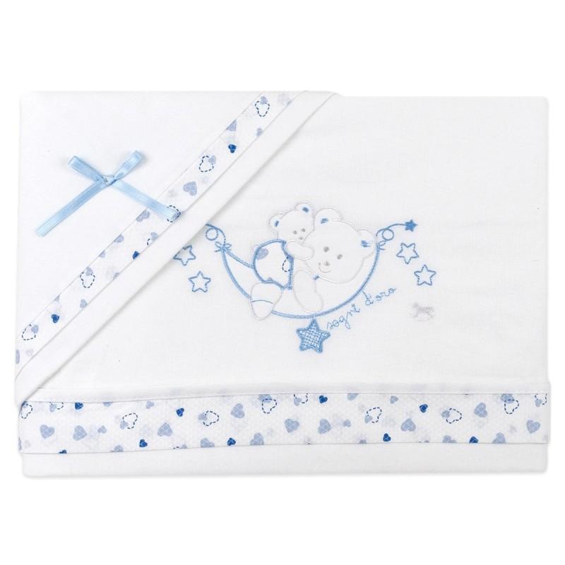 Flannel cradle bed sheet set art. 756AZ
