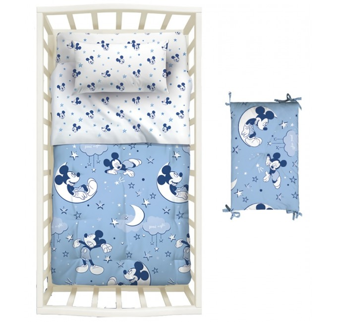 Mickey Patch - quilt with cot bumpers Disney Caleffi