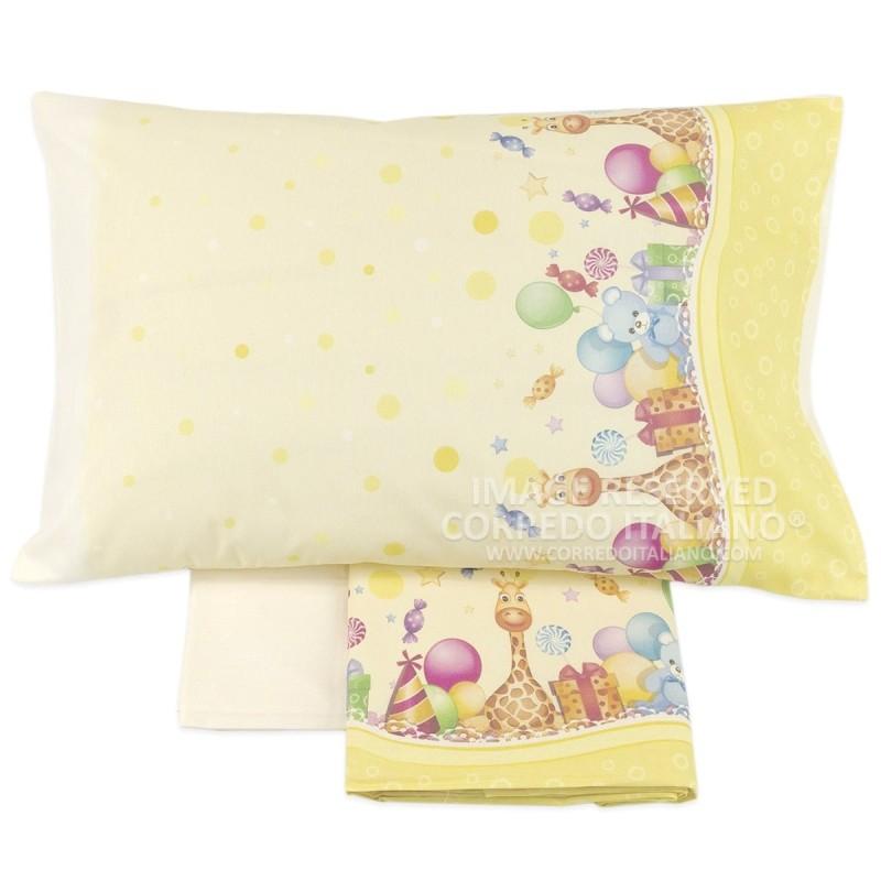 SWEET DREAMS - cot bed sheet set flannel MI012G