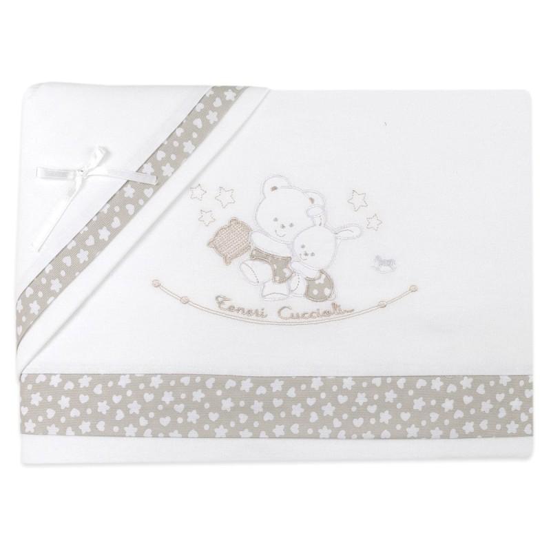 Flannel cradle bed sheet set art. 780PA