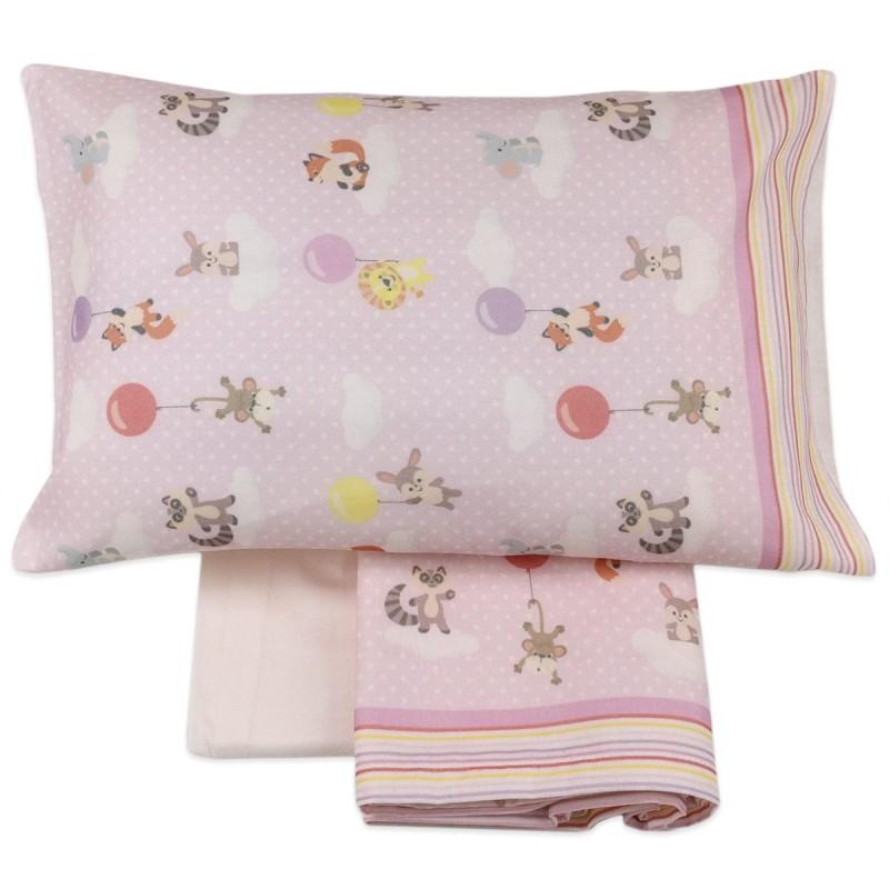 SWEET DREAMS - cot bed sheet set flannel MI016RR