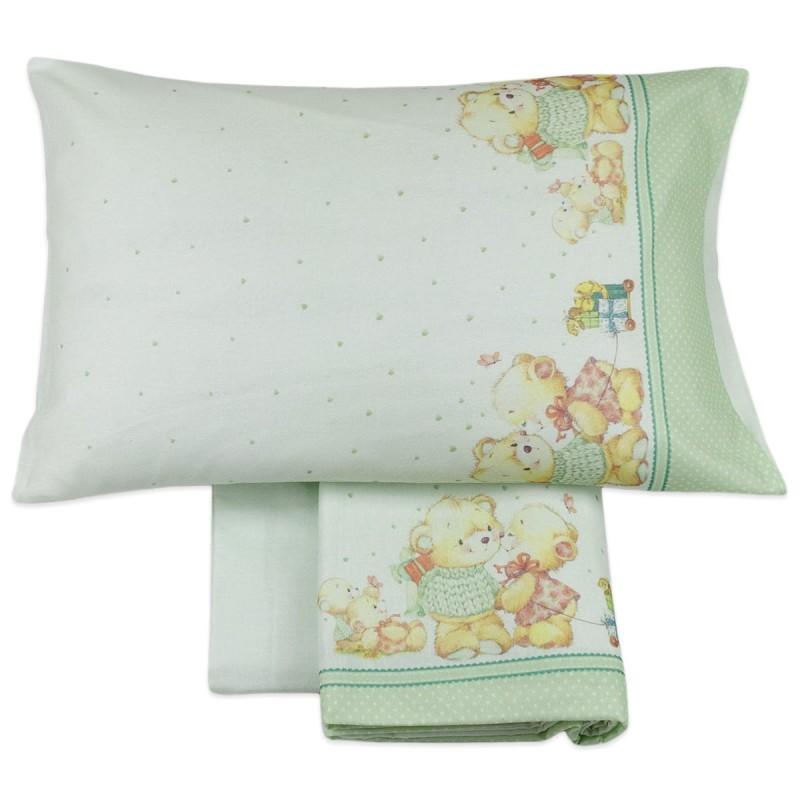 Cot bed sheet set flannel MI004V