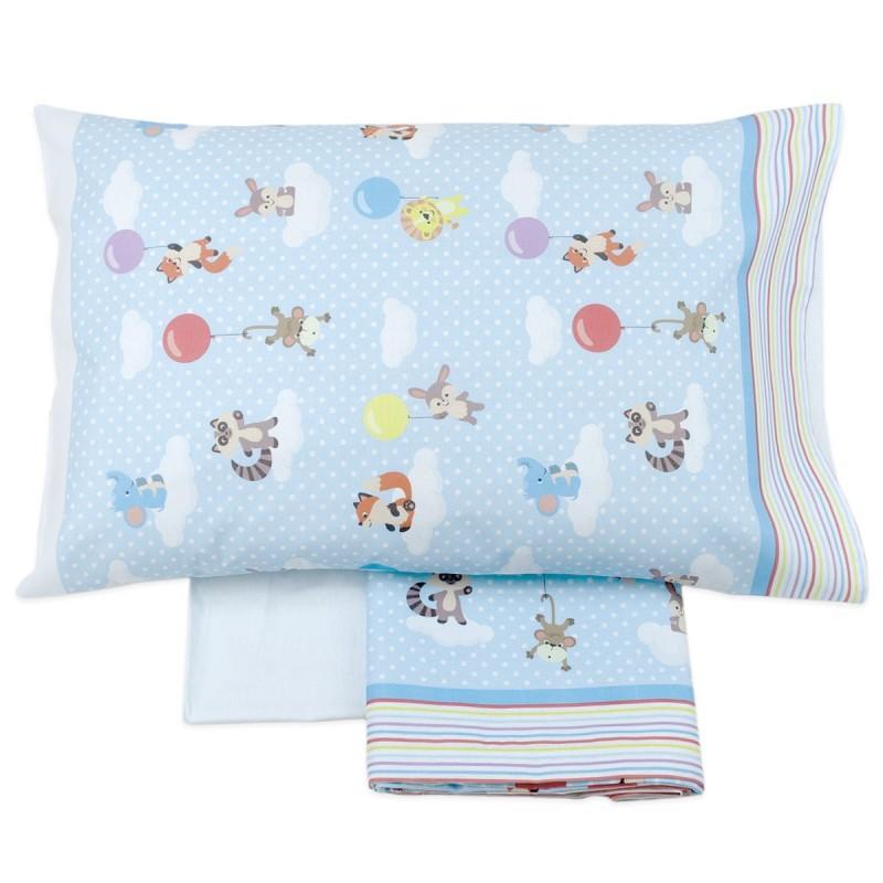 Sky Puppets - cot bed sheet set flannel CI019AZ