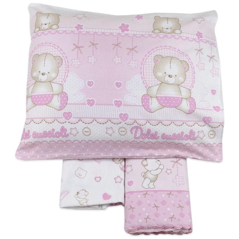Cot bed sheet set flannel cotton art. 3972RR