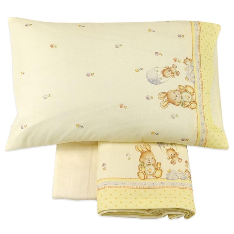 SWEET DREAMS - cot bed sheet set flannel MI047G