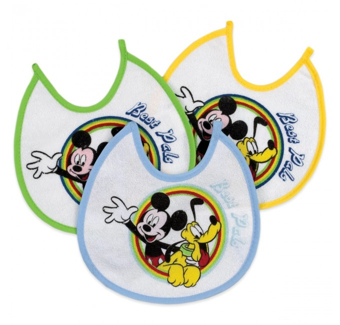 MICKEY MOUSE - 3 bibs set art. A9555