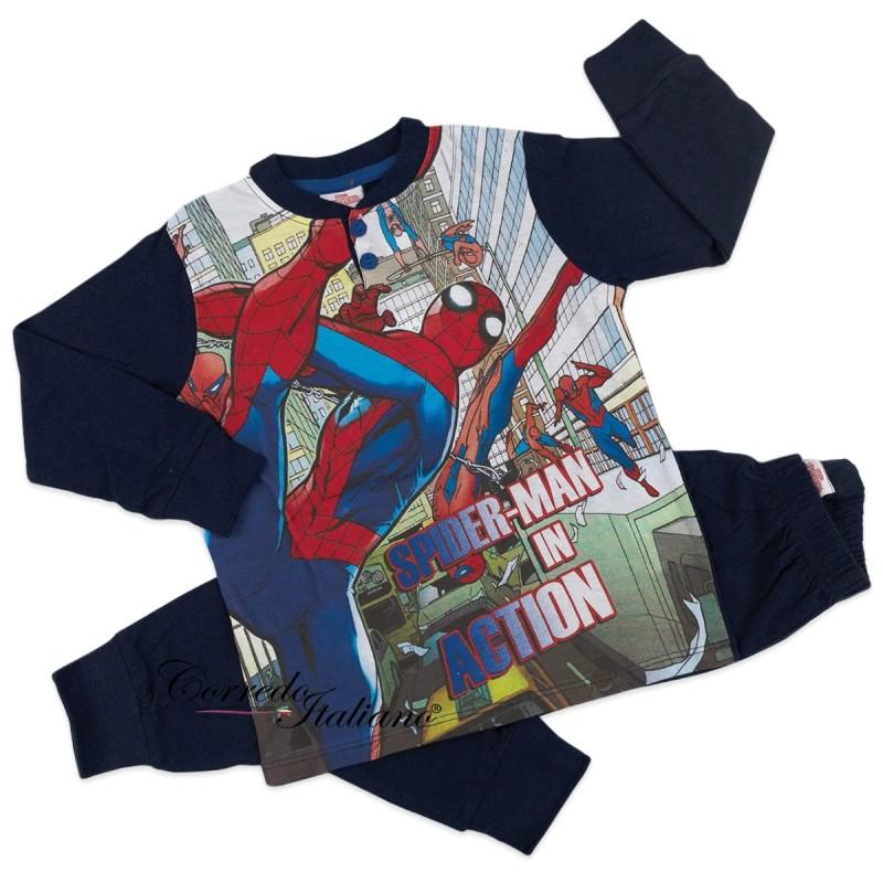Spiderman - Pajamas winter cotton interlock MV40M4503