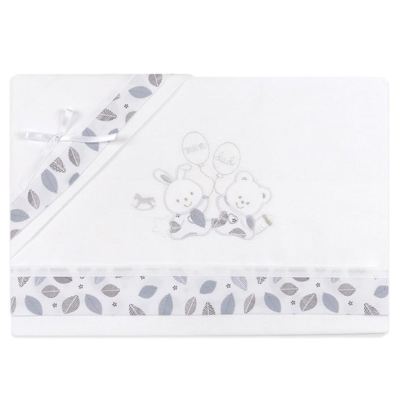 Cradle sheet set Mio Piccolo art. LC814GR