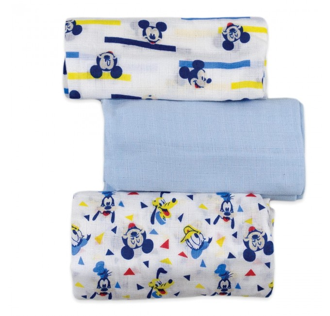 3-PACK Square teaseled surface art. Mickey