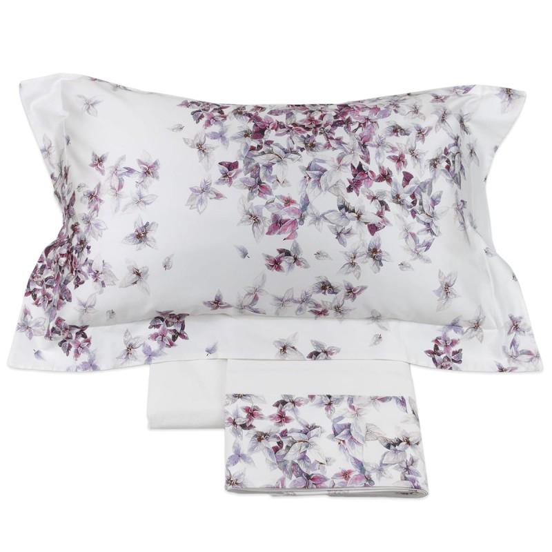 Papillon - Corredo Italiano® double bed sheet set with satin flounce