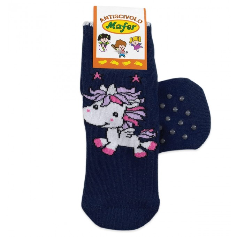 Baby socks in winter cotton art. Bear