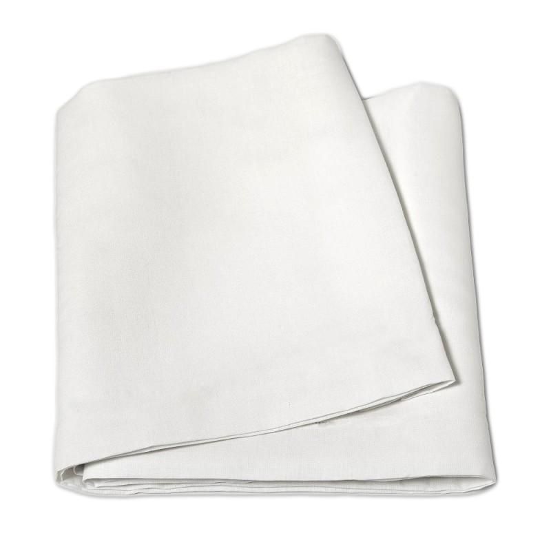 Tessuto a metro in misto lino altezza 270 cm - Bianco