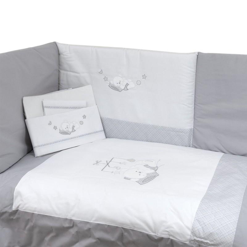 Duvet cover + cot bumper + cot bed sheets art. My Friend