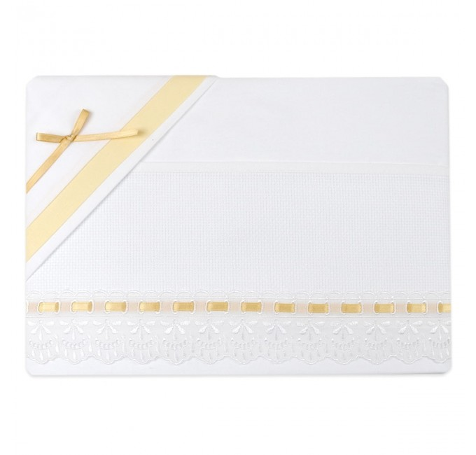 Cot bed sheet set to embroider art. 1405SGYL