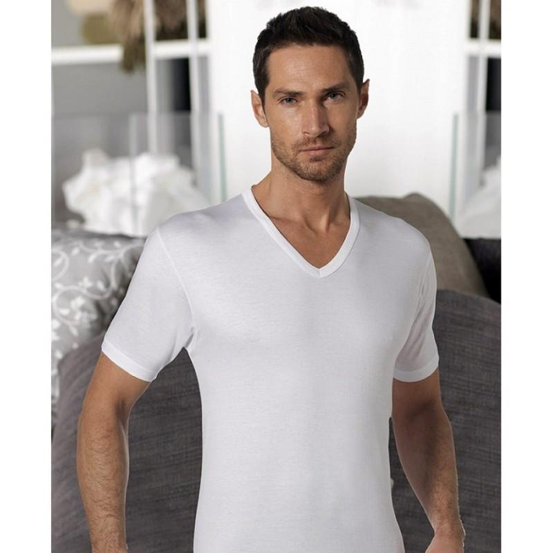 T-shirt V neck pure cotton art. T110