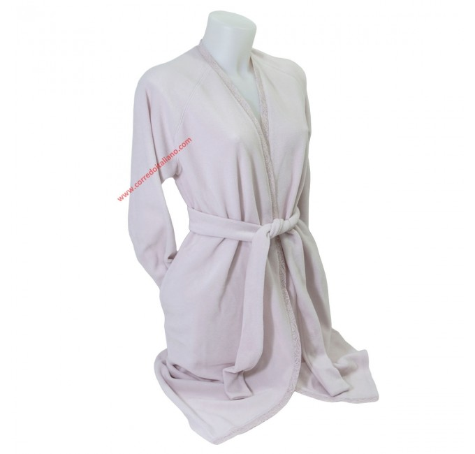 Eva - dressing gown with lace