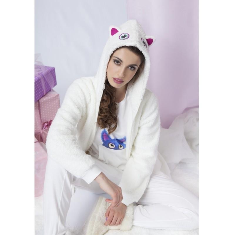 Fleece dressing gown art. 29G06