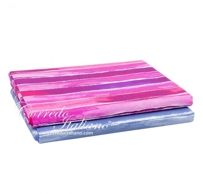 Striped - single bed coverlet piquet