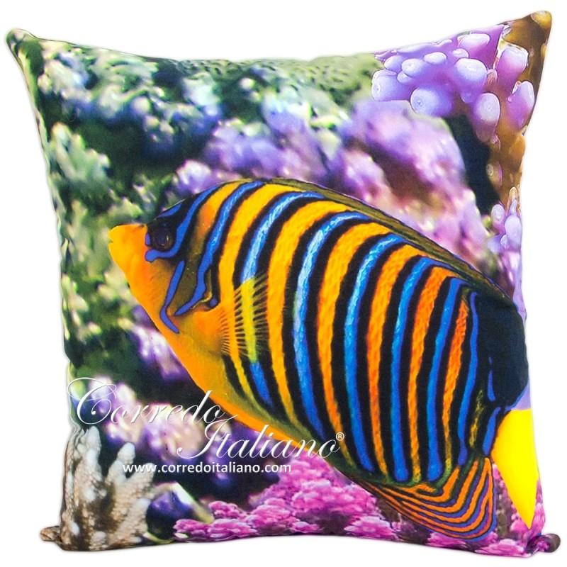 Cuscino da arredo art fior di loto 50x50 cm for Teli decorativi