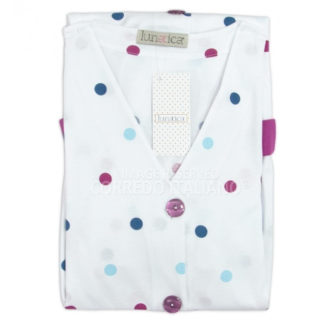 Dressing gown with short sleeves art. 71153