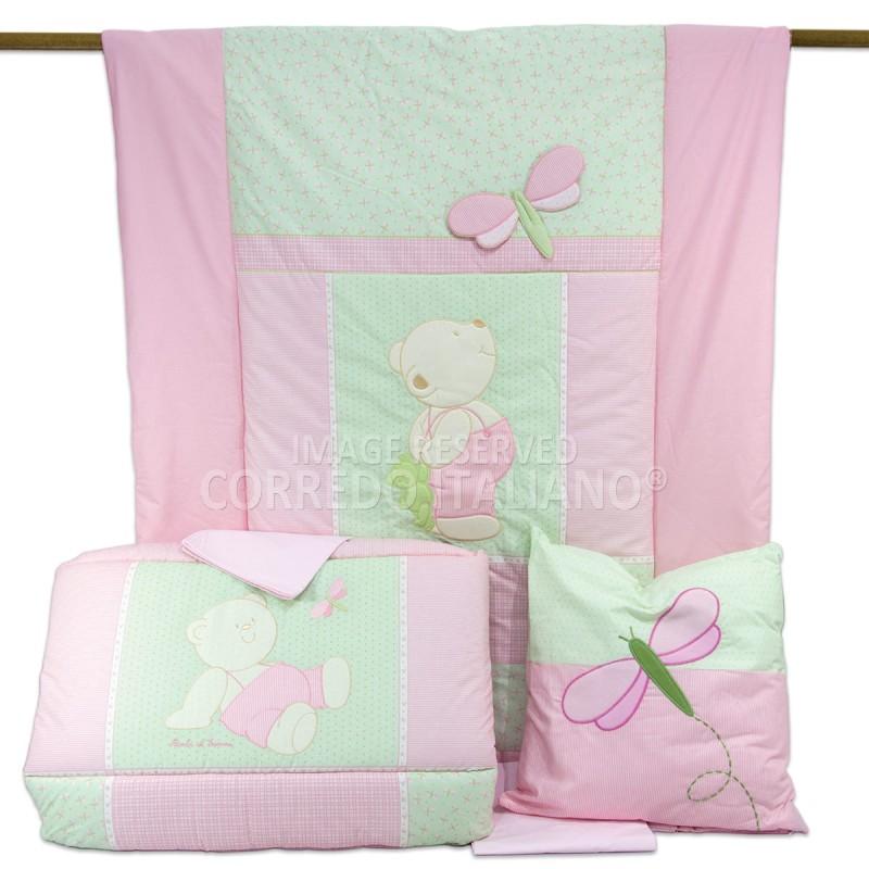 Duvet cover + cot bumper + cot bed sheets art. Dragonfly