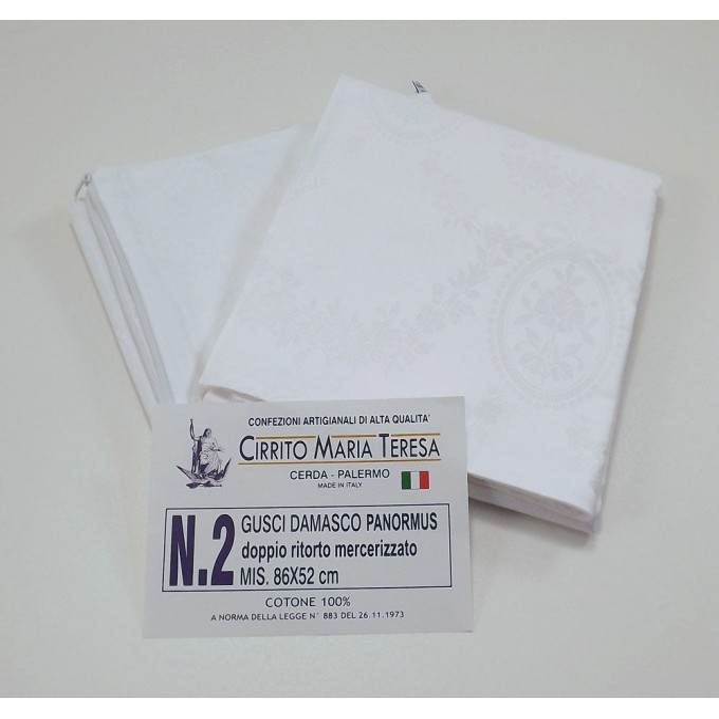 Panormus - 2 sottofedere puro cotone damasco