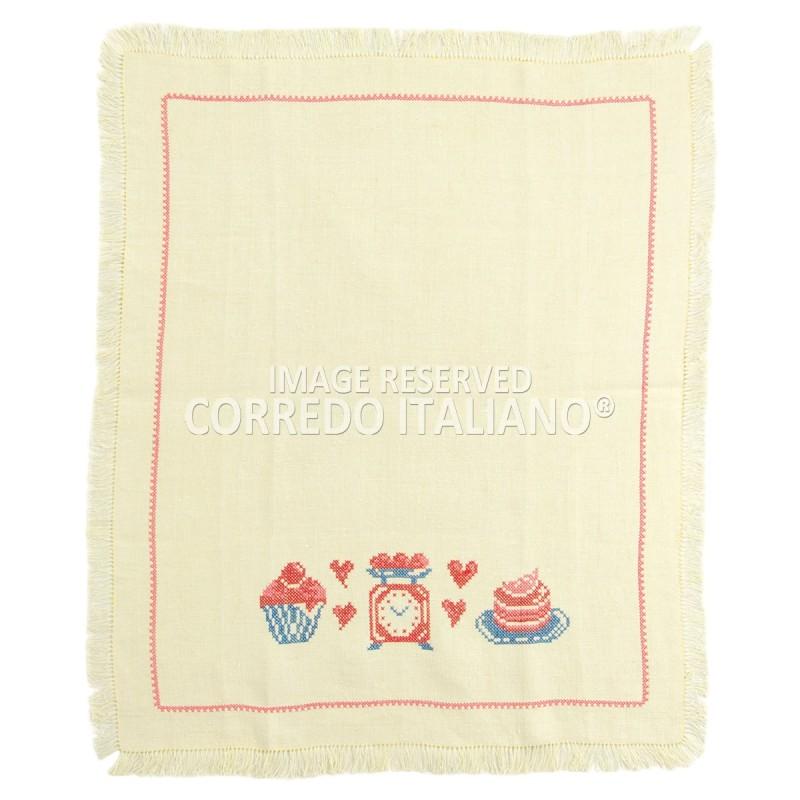 Dish towel hand made pure linen art. 001A
