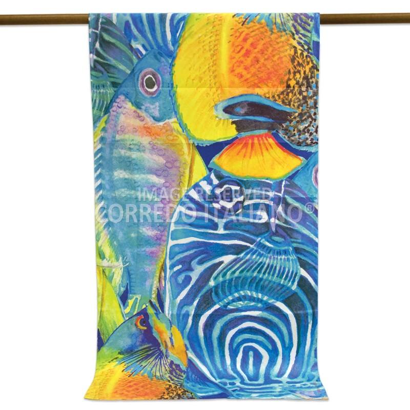 Microfiber beach towel art. iRock 170x90 cm