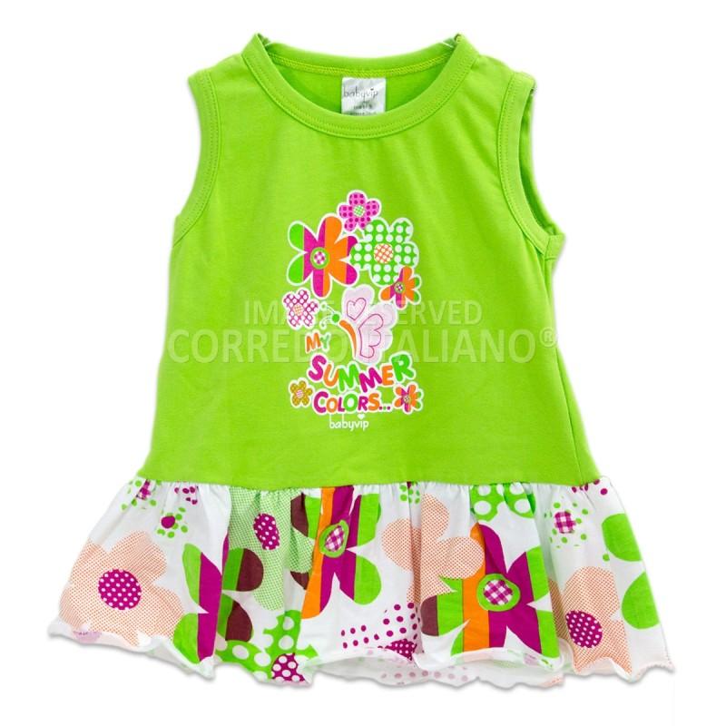 Vestitino giromanica Baby Vip art. J6394