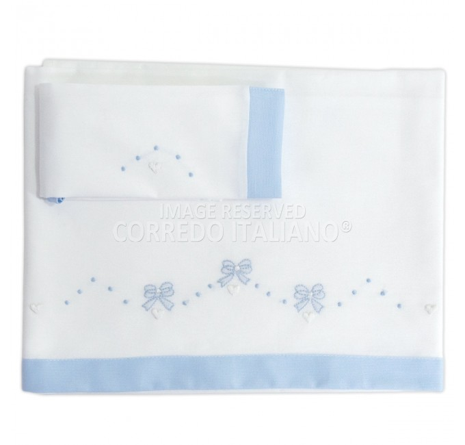 Cradle sheet set embroidered by hand LC110AZ