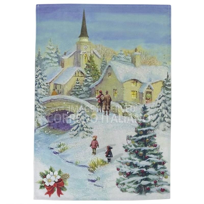 Abete - asciugapiatti natalizio stampa digitale HD