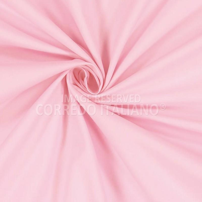 Tessuto in puro cotone altezza 300 cm - Rosa