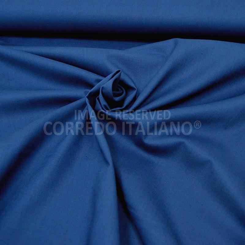Tessuto in puro cotone altezza 300 cm - Bluette