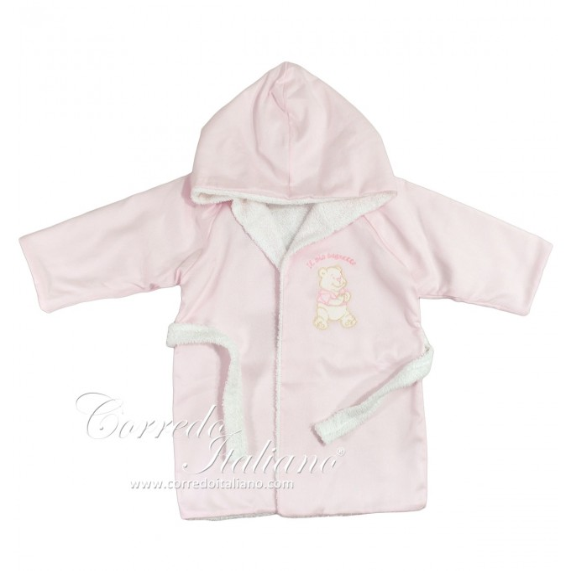 Piquet - bathrobe for baby - pink