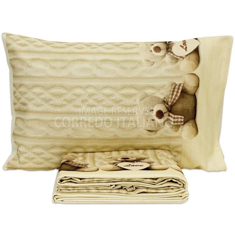 Cot bed sheet set flannel cotton art. MI017AZ
