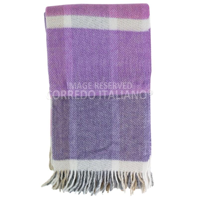 Adelaide - Plaid in 100% pura lana con frange
