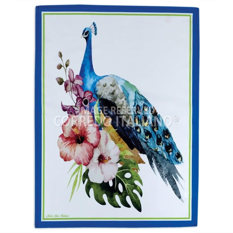 Peacock - dishtowel digital printed HD