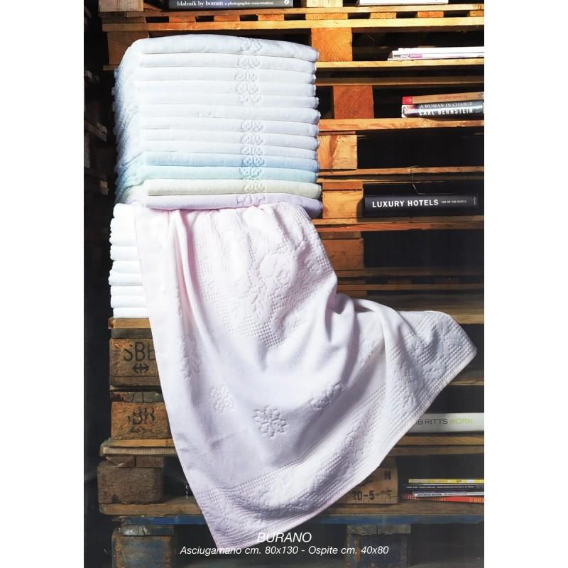 Burano - set asciugamani spugna 6+6