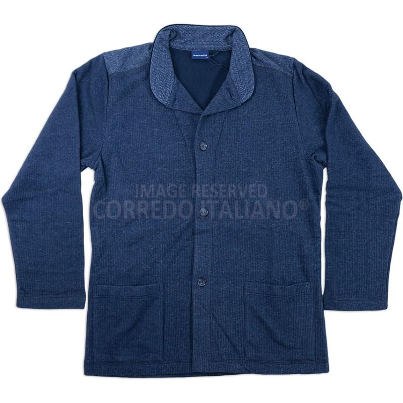 Giacca da camera abbottonata cotone jersey invernale 2031