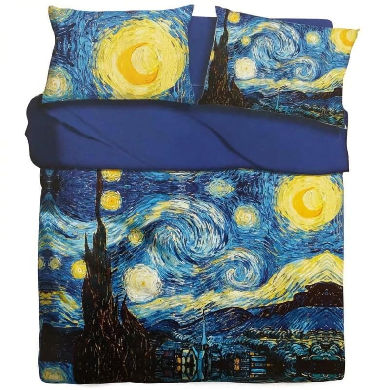 Starry Night Van Gogh - bed sheets set digital
