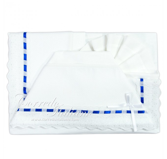 Cot bed sheet set to embroider art. CI1405SGBL