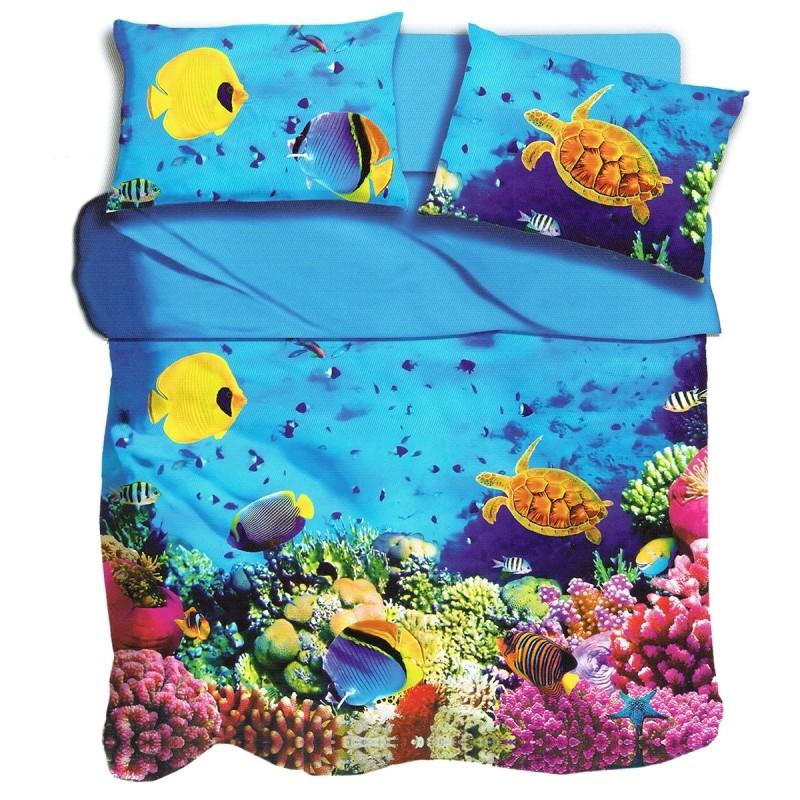 Aquarium - single size bed sheets set digital